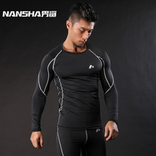 Buy NANSHA Mens Compression Shirts Bodybuilding Skin Tight Long Sleeves Clothings MMA Crossfit Exercise Workout Fitness Sportswear for $8.99 in AliExpress store