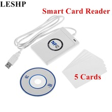Buy LESHP Smart Card Reader NFC USB ACR122U RFID Contactless 4 types NFC (ISO/IEC18092) Tags + 5pcs M1 Cards for $25.19 in AliExpress store