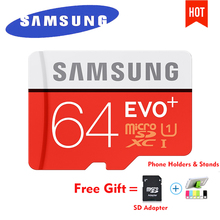 SAMSUNG EVO Plus Micro SD card 64GB 32GB 16GB 256GB Class10 MicroSDSDXC UHS-I 80MB/S SDHC TF card 64GB 128GB + SD Adapter 256g