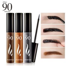 After 90 Makeup Eyebrow Tint Peel Off Eyebrow Enhancer Tattoo Gel 3Colors Dye Cream Waterproof 72H Long Lasting Natural Eyebrows