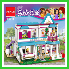 new Lepin 01014 622Pcs compatible With legoe Friends Girls Series 41314 The Stephanie's House Set Building Blocks Bricks toys