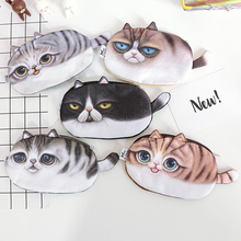 Kawaii Cats Zipper Pencils Bags Cute 3D Plush Pencils Case 2016 New Case Large Capacity School Supplies Stationery Hot Pen Box(China)