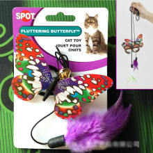 Noctilucent Symphony butterfly Creative Funny Cat Stick Pet Cat Toys Cheap  Finger Hook Formula Playing Toys For Cats Kitten