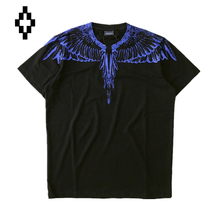 Marcelo Burlon T-shirt HBA Rainbow Blue Color Wings Feather Brand Clothing Hip Hop Men Women XXL Size Kanye West New T-Shirts