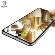 Baseus 0.3MM Mirror Screen Protector For iPhone 7 Plus Tempered Glass 9H Full Cover Protective Toughened Glass Film For iPhone7(China)