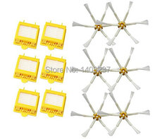 6 Pack Hepa Filters +6pcs Side Brushes 6psc 6-Armed for iRobot Roomba 700 Series 760 770 780 Vacuum Cleaning Robotic Accessory(China)