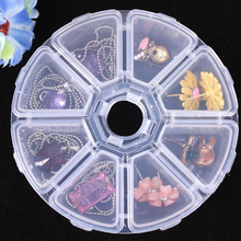 COCODE Adjustable 24 Compartment Transparent Plastic Storage Box Jewelry Earring Case small objects Caja de almacenaje V4330(China)