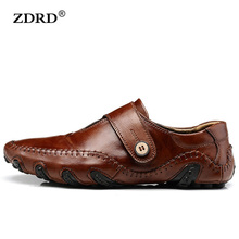2017 New Arrival Fashion Men Flats Shoes High Quality Genuine Leather Men Driving Shoes Brown Black Buckle Men Shoes,Size:38-47