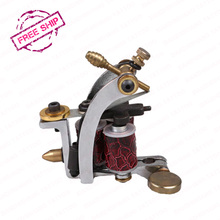 Tattoo Machine 3 Copper Coils Top Quality Casting Iron Carbon Steel Classical Frame Shader Tattoo Gun(China)