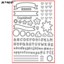 ALPHABET STAR CONGRATULATIONS Scrapbook DIY photo cards account rubber stamp clear stamp transparent stamp Handmade card stamp