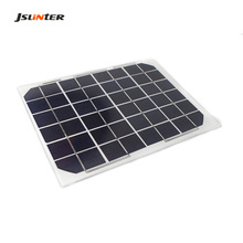JSLINTER 12V 5W Solar Panel Monocrystalline Silicon Cell diy Solar Panel with J-box