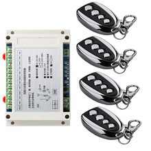 DC 12V  24V 36V  48V  4CH  RF Wireless Remote Control switch    1 receiver+ 4 transmitter 30A relay wide voltage