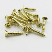 200pcs/package J245 M2*10 Flat Self-tapping Screws Brass Material Golden Small Philip's Screws DIY Model Making Tools