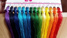 50pcs / lot silk cross stitch thread same color as DMC floss smooth hand embroidery DIY needlework 8 meter Long 6 Strands(China)