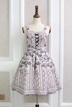 Princess sweet lolita Japanese dress beautiful and Elegant Rose stripe Lace butterfly sleeve dress QQ014