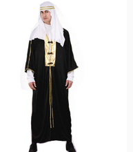 Hot sale 2016 The Middle East Arab countries male people dress dress up Islam Muslim long white robe Saudi Arabia Prince Costume(China)