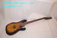 new fretless electric bass guitar with mahogany body +foam box+free shipping  1039
