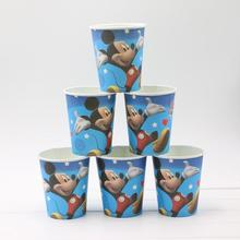 10Pcs/lot Cartoon Little Mickey Mouse paper cup Supplies Favors Paper Cup Drink