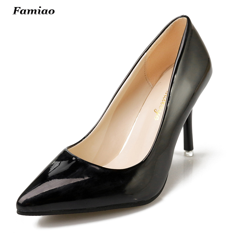 Brand Shoes Woman High Heels Pumps Women Shoes Patent Leather Pumps Office Lady Shoes<br><br>Aliexpress