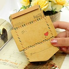 1PC/lot Creative Antique Romantic Envelop sticky notes,50pcs/pad, Note paper Pads Memo,Writing scratch pad,wholesale(ss-1168)
