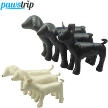 1pc PU Leather Dog Mannequins 3 Size Standing Position Dog Models Toys Pet Animal Shop Display Mannequin(China)