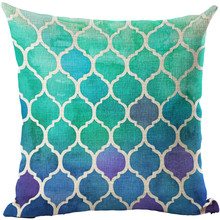Cushion Covers Multicolor Morocco Mosaic Cotton Linen Cushion Cover Cushions for Sofas Coffee Shop Office Car Home Decorative(China)