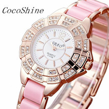 CocoShine A-666 New Crystals Quartz Diamond Women Analog Wrist Fashion Bracelet Watch!Support wholesale wholesale(China)
