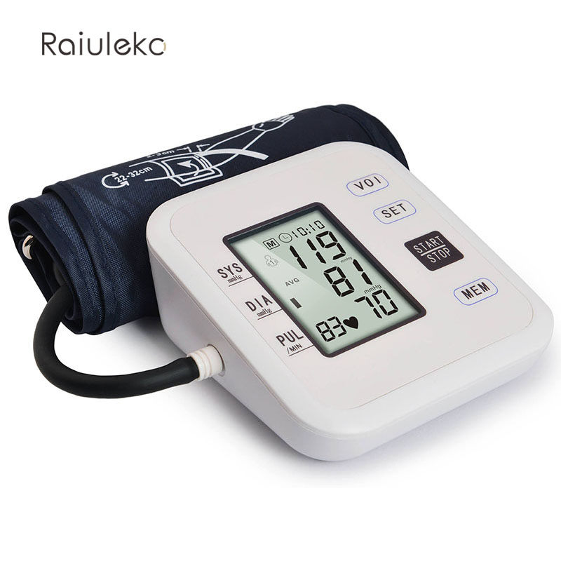 New Free Shipping Household Health Pressure Pulse Blood Pressure Monitor Digital Portable Hypertension oximeter Sphygmomanometer 12