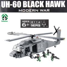 Pandadomik UH-60 Black Hawk Military Helicopter Building Blocks 562pcs Army Models Building Toys Compatible with lego Bricks