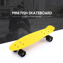 Freestyle Cool 22 Inches Four-wheel Street Long Skate Board Mini Cruiser Skateboard Deck Longboard Wheels Waveboard Colorful