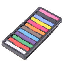 12/24 Pcs Convenient Temporary Super Hair Dye Colorful Chalk Beautiful Convenient Super Hair Dye Crayons(China)