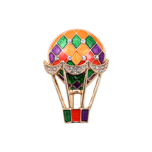 Daisies New Hot 1PC Fashion Jewelry Zinc Alloy Enamel Hot air balloon Simple Style Brooch Scarf Pins(China)