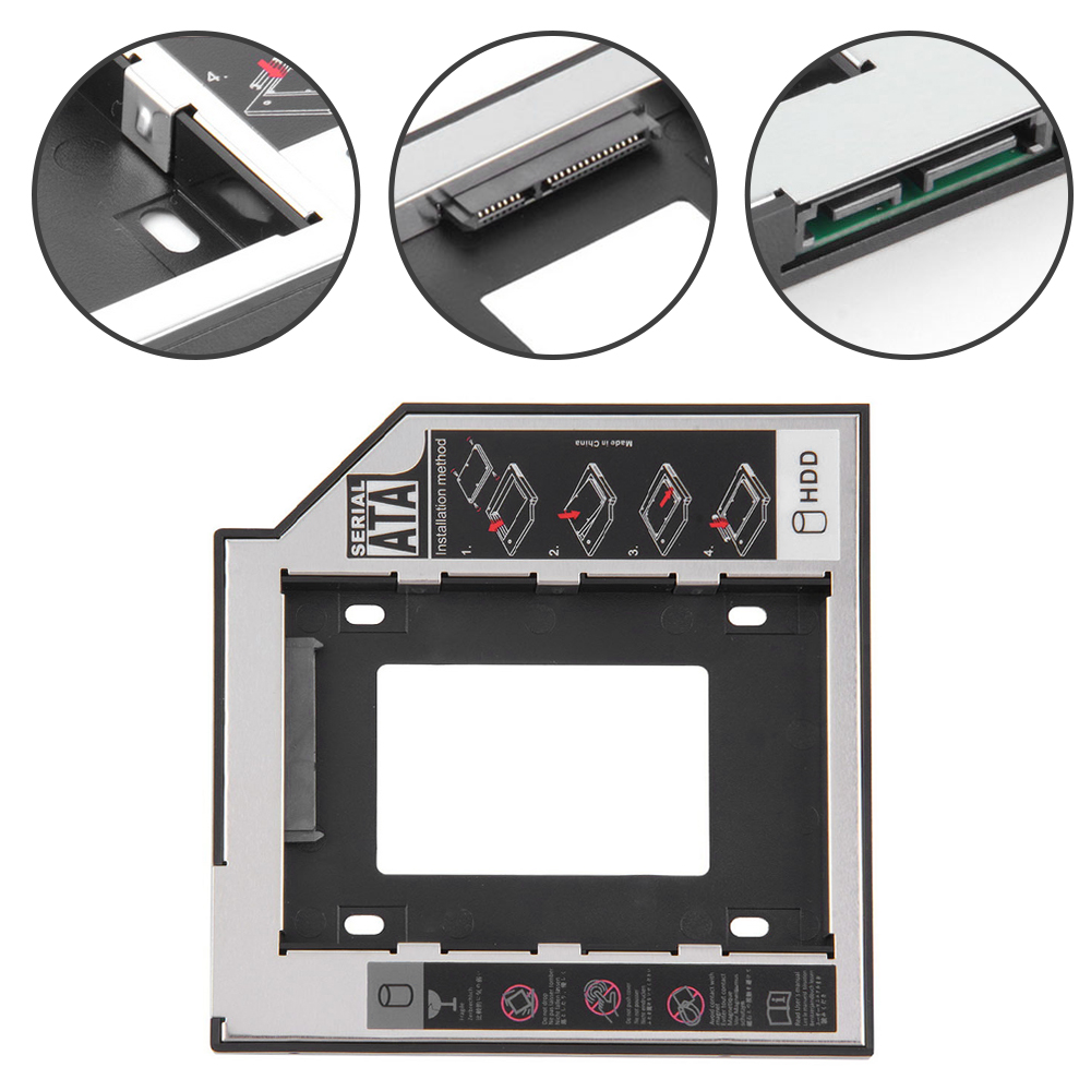 Caddy Enclosure Ssd Case Hard-Disk Laptop Optical-Bay Sata-3.0 DVD-ROM for 2TB with LED title=