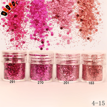 1 Jar/Box 10ml 3D Nail 4 Red Rose Color Mix Nail Glitter Powder Sequins Powder For Nail Art Decoration Optional 300 Colors 4-15