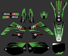 0236 New Style TEAM GRAPHICS&BACKGROUNDS DECALS STICKERS Kits  for Kawasaki KX450F KXF450 2006 2007 2008