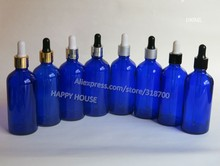 360pcs/lot 100ml Blue Glass Bottle, 100cc Blue Glass Dropper Bottle, 100cc Glass Essential Oil Bottle(China)
