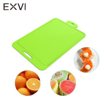EXVI Kitchen Durable Silicone Chopping Block Fruit vegetable Flexible Cutting Board Hang Hole Antibacteria Safety Cutting Block(China)