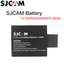 Original SJCAM Brand 3.7V Li-ion Battery Black for SJCAM Series M10 SJ4000 SJ5000 Series Sport Camera batteries