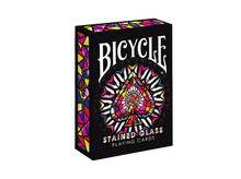 1pcs Stained Glass Deck Bicycle Playing Cards Poker Limited Edition Magic Deck Magic Tricks props(China)
