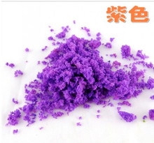 06 Home & Garden tree simulation tree powder colored sponge DIY sand table tree model manual material powder(China)