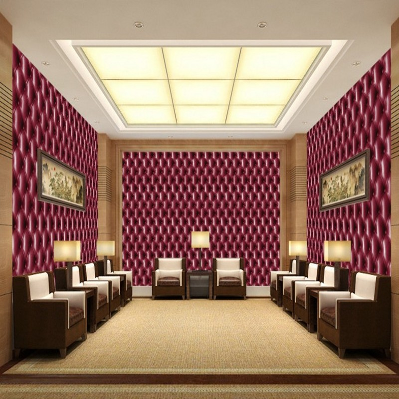 Free Shipping European 3D Stereo Stripe Soft Wallpaper Living Room TV Wallpaper Wallpaper high quality Wallpaper<br>