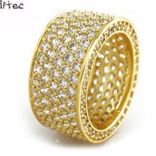 Buy Iftec Shiny! Mens Hip Hop Cz Ring Gold Silver Iced Bling Aaa Zircon Rhinestone Crystal Copper Rings Fashion Punk Jewelry for $10.89 in AliExpress store