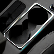 Car Styling Interior Water Cup Holder Frame Decoration Cover Sticker For Skoda Octavia A7 2015 2016 Auto Accessories(China)