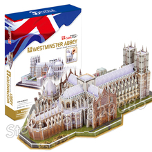 145PCS Westminster Abbey 2016 New 3D Puzzle DIY Jigsaw Assembly Model Building Set Architecture Creative gift Kids Children Toys(China)