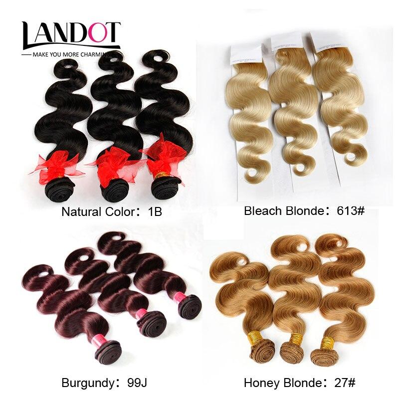 Brazilian Virgin Hair Body Wave 100% Human Hair Weave 3 Bundles Natural Black Burgundy Red Bleach Blonde Honey Blonde Human Hair<br><br>Aliexpress
