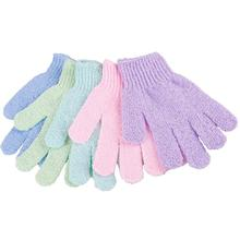 Durable Bath Shower Exfoliating Soap Foam Gloves Massager Scrubber SPA Random Color #44474(China)