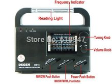 DEGEN DE16 FM/FML MW SW hand Crank Dynamo Solar Emergency alarm Radio LED light World Receiver four power supply charge phone