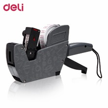 Deli 7504 Diseño De Mano Precio Tagging Tag Pistola Etiquetadora Label Maker Machine Gun Para Supermercado Uso Negro DropShipping(China)