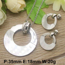 12 Styles Hot New Round Stainless Steel Jewelry Set Stud Earrings And Pendants For Women SBJECOCF