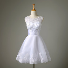 Short wedding dress the brides sexy lace wedding dress bridal gown vestido de noiva real pictures